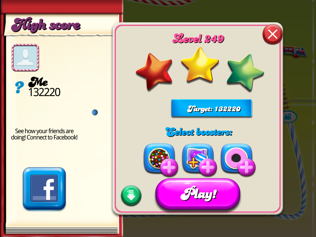 Candy Crush Saga: Level 249 132,220 points