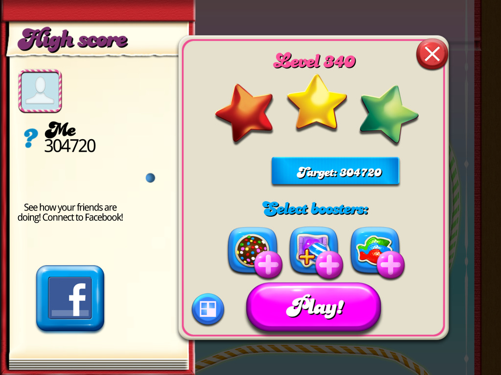 Candy Crush Saga: Level 340 304,720 points