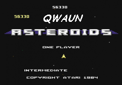 Qwaun: Asteroids: Intermediate (Atari 7800 Emulated) 56,330 points on 2014-07-04 22:26:02