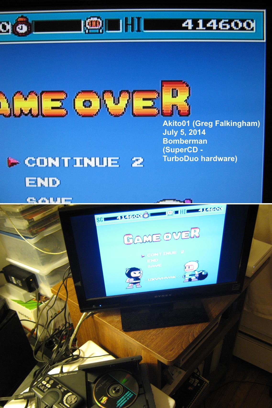Bomberman 414,600 points
