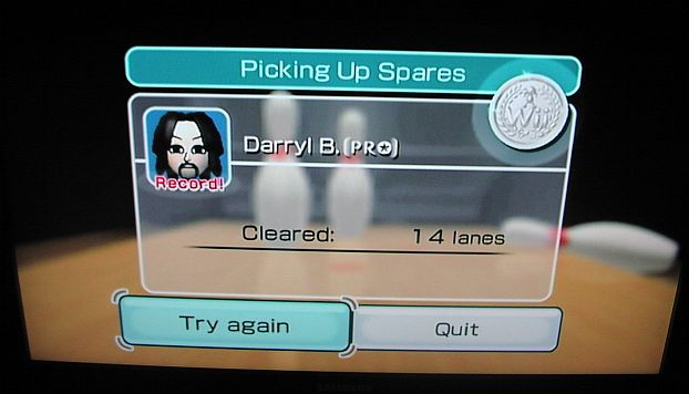 DarrylB: Wii Sports: Bowling [Picking Up Spares] (Wii) 14 points on 2014-07-05 10:10:47