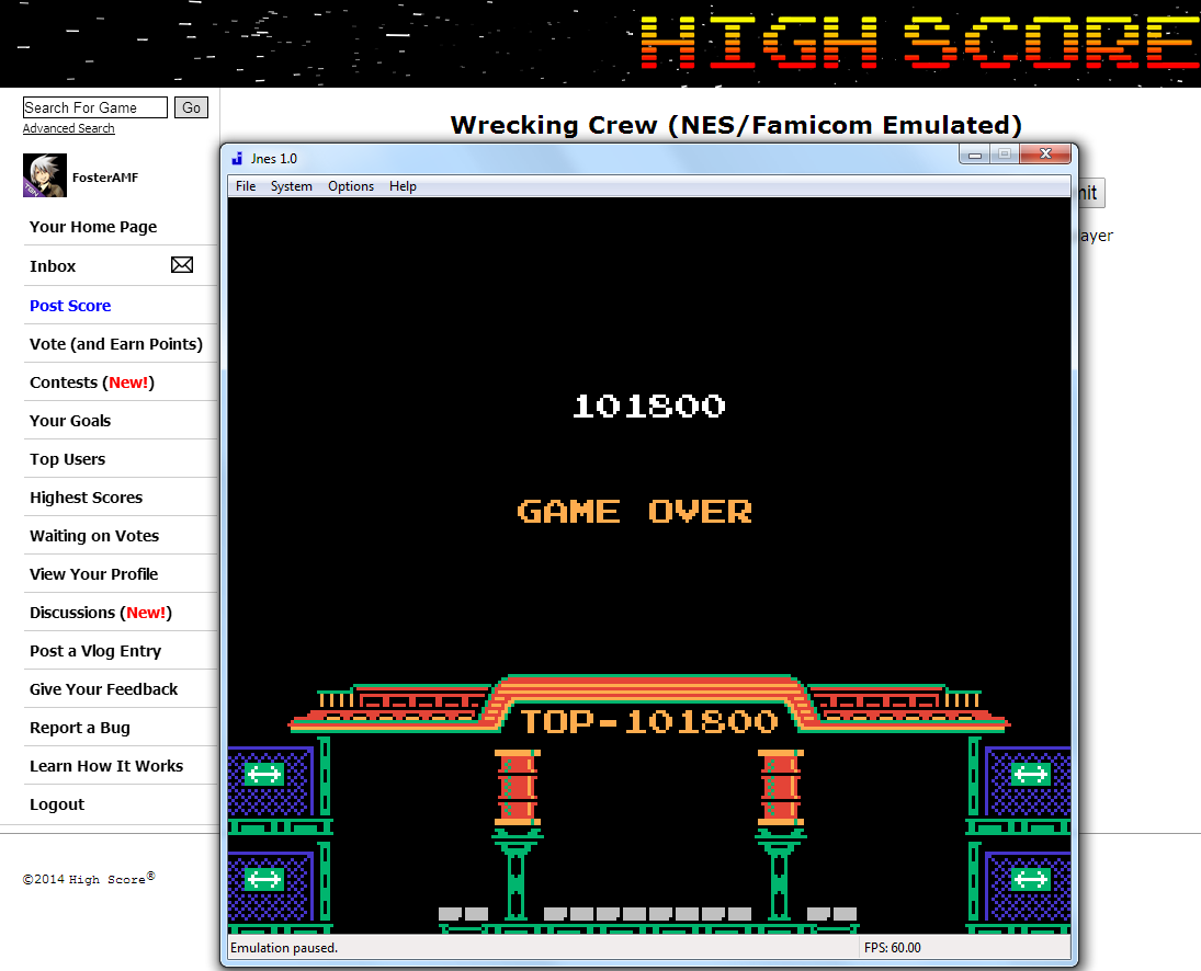 FosterAMF: Wrecking Crew (NES/Famicom Emulated) 101,800 points on 2014-07-06 00:28:34