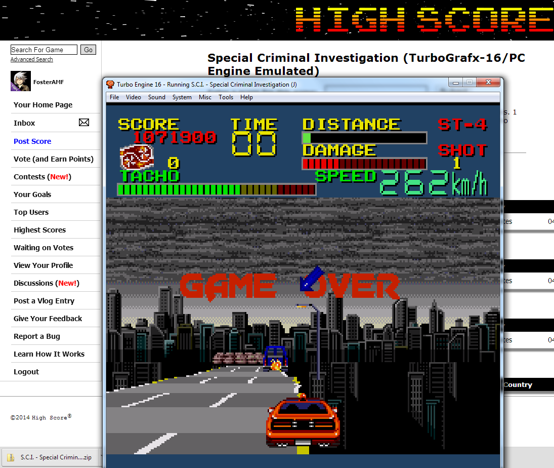 FosterAMF: Special Criminal Investigation (TurboGrafx-16/PC Engine Emulated) 1,071,900 points on 2014-07-06 01:28:53