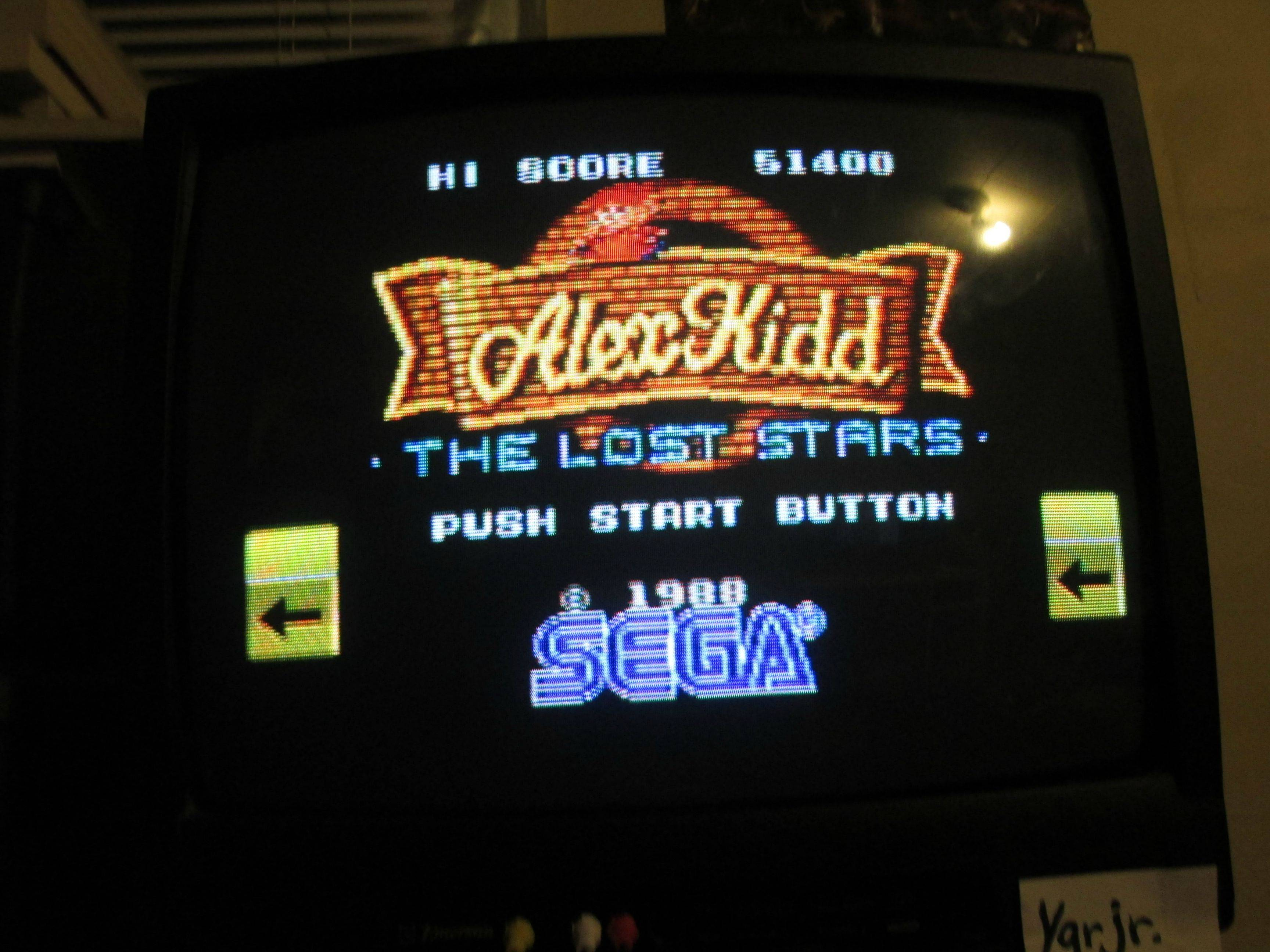 Alex Kidd: The Lost Stars 51,400 points
