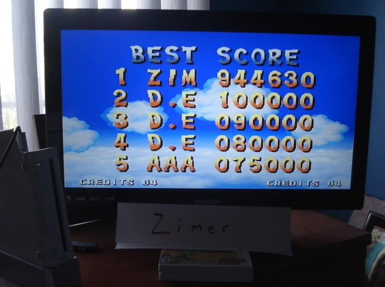 Zimer: Spinmaster (Wii Virtual Console: Neo Geo) 944,630 points on 2014-07-06 15:35:27