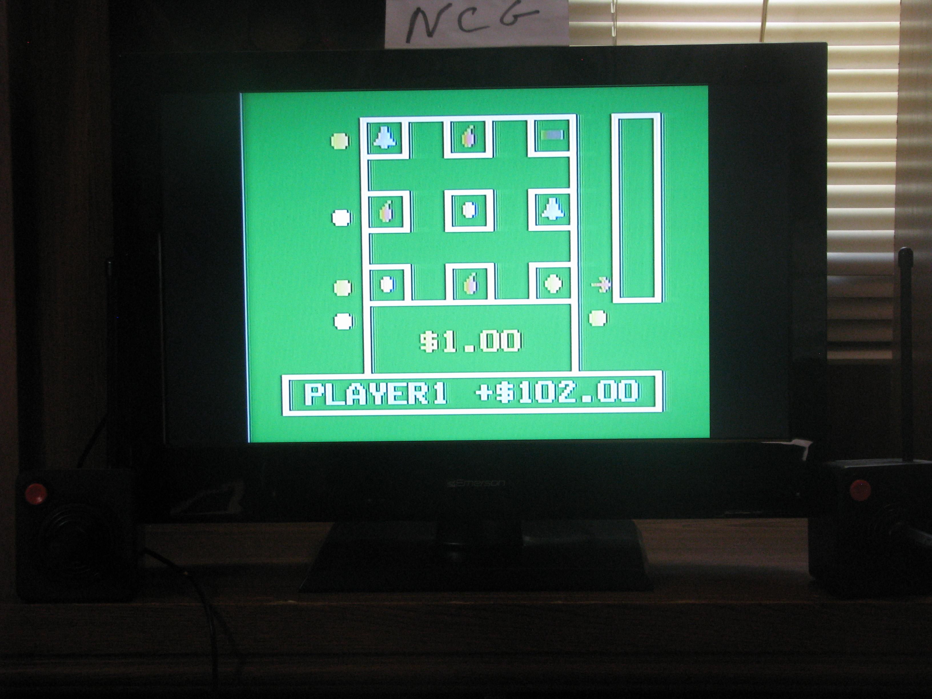 NorthCoastGamer: Casino Slot Machine (Odyssey 2 / Videopac) 102 points on 2014-07-06 16:31:59
