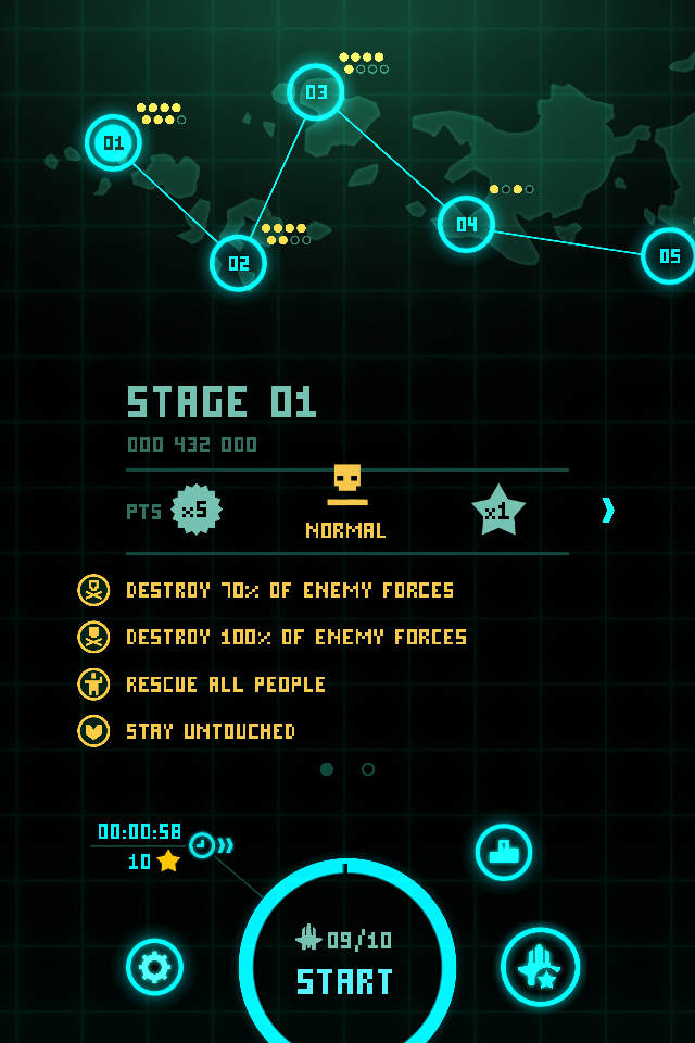 FosterAMF: Sky Force [Level 01: Normal] (iOS) 287,500 points on 2014-07-06 17:08:00