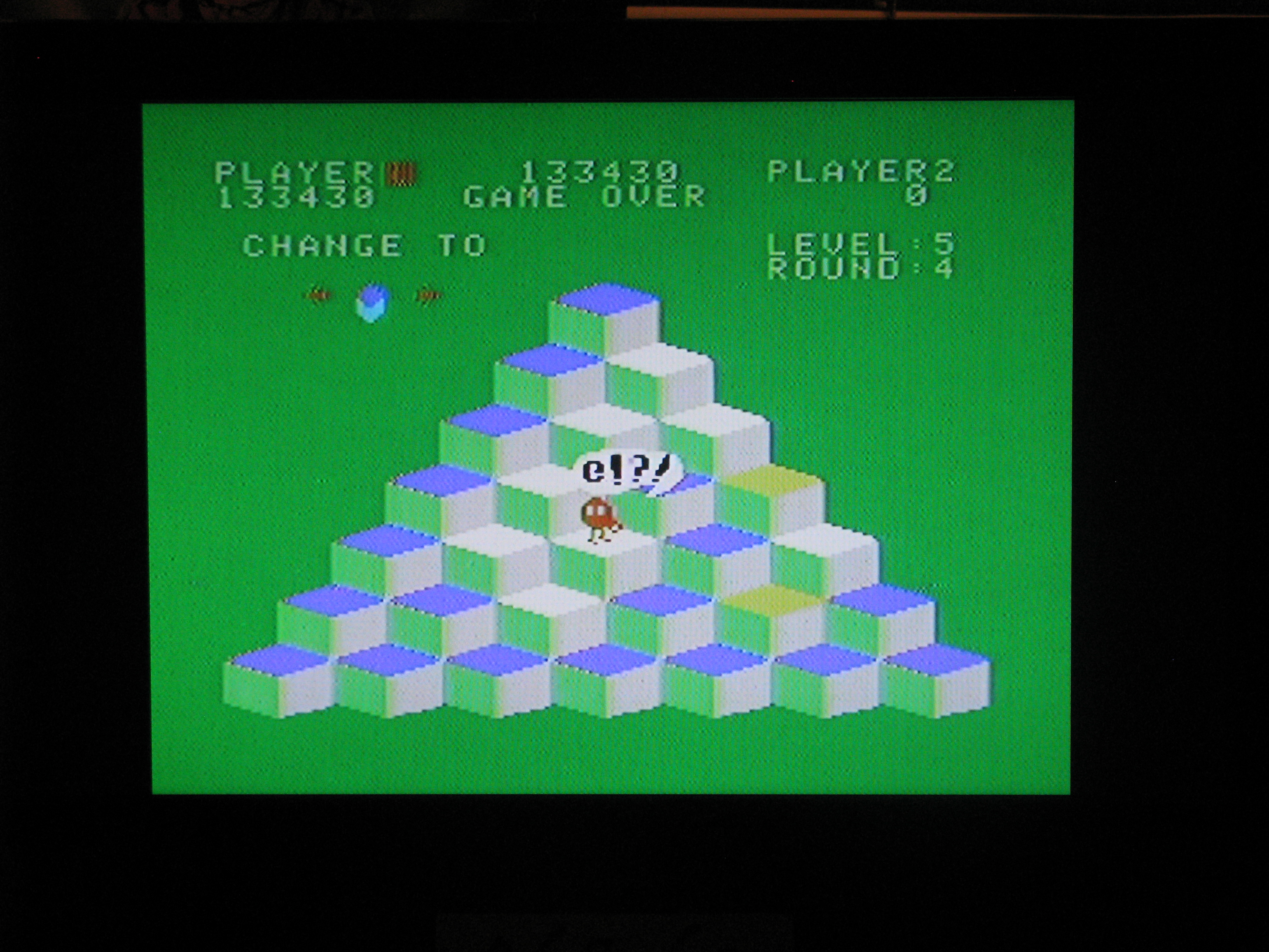NorthCoastGamer: Q*bert (Colecovision) 133,430 points on 2014-07-06 20:42:55