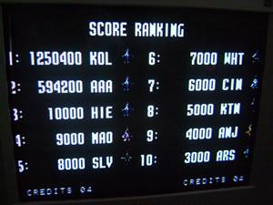 kollision: Aero Fighters 2 / Sonic Wings 2 (Neo Geo) 1,250,400 points on 2014-07-07 15:39:19