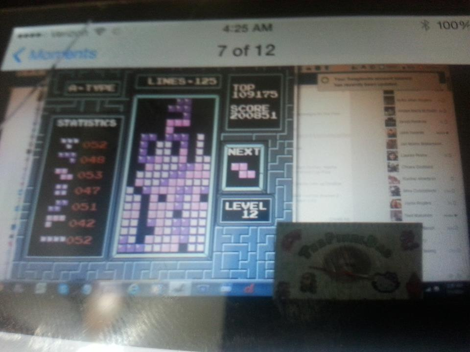 ThePixelDad: Tetris (NES/Famicom Emulated) 200,851 points on 2014-07-08 05:09:36