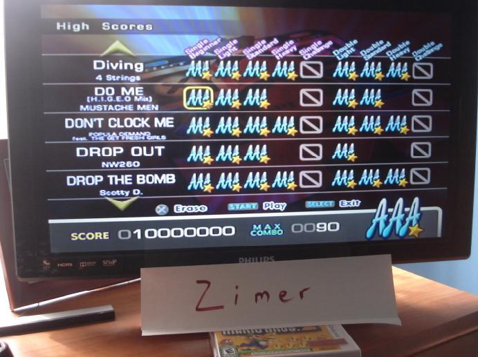 Zimer: DDR Extreme: Do Me (H.I.G.E.O. Mix) [Single/Beginner] (Playstation 2) 10,000,000 points on 2014-07-08 12:06:20