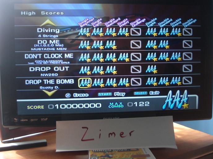 Zimer: DDR Extreme: Drop the Bomb [Single/Beginner] (Playstation 2) 10,000,000 points on 2014-07-08 12:07:21