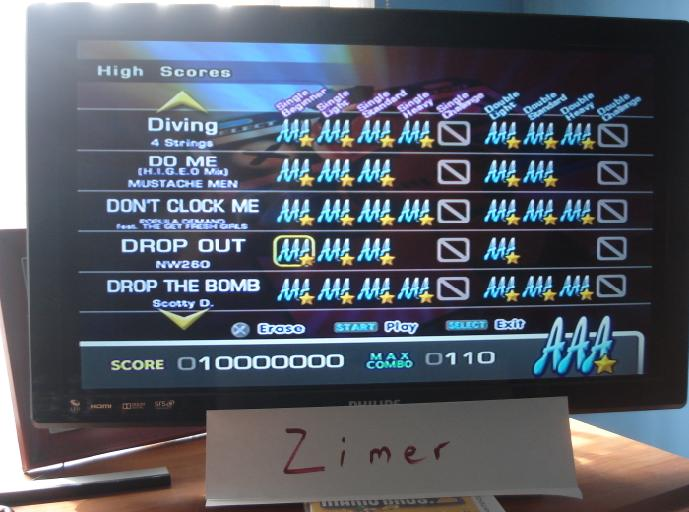 Zimer: DDR Extreme: Drop Out [Single/Beginner] (Playstation 2) 10,000,000 points on 2014-07-08 12:07:22