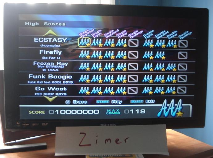 Zimer: DDR Extreme: Ecstacy [Single/Beginner] (Playstation 2) 10,000,000 points on 2014-07-08 11:18:12