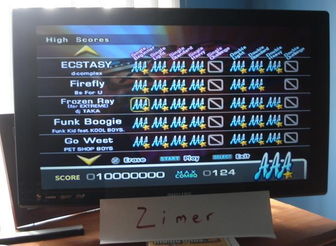 Zimer: DDR Extreme: Frozen Ray (for Extreme) [Single/Beginner] (Playstation 2) 10,000,000 points on 2014-07-08 12:19:22