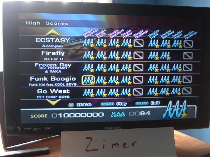 Zimer: DDR Extreme: Funk Boogie [Single/Beginner] (Playstation 2) 10,000,000 points on 2014-07-08 12:19:53