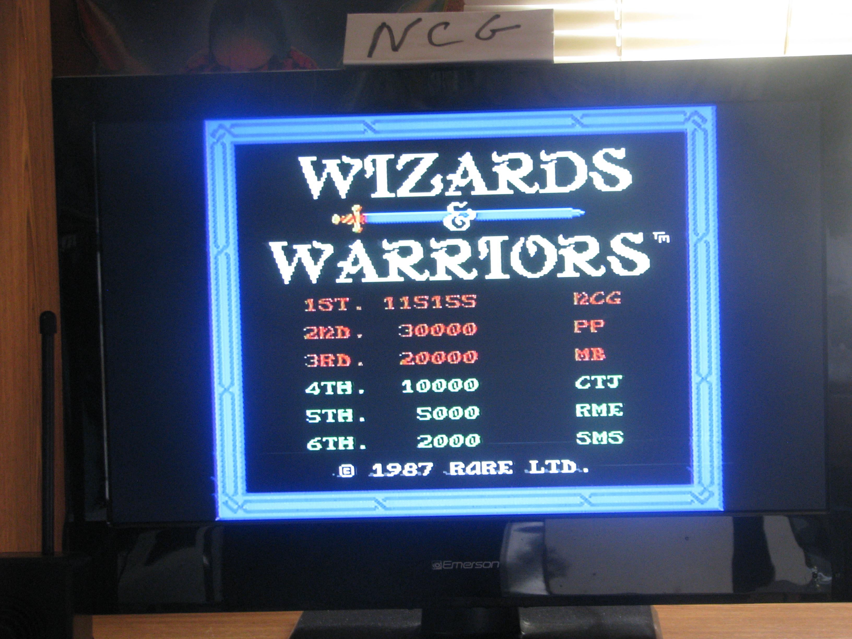 Wizards & Warriors 115,155 points