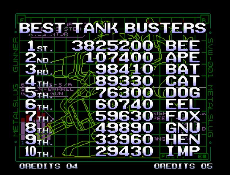 Beerman: Metal Slug 5 (Neo Geo Emulated) 3,825,200 points on 2014-07-09 10:25:08