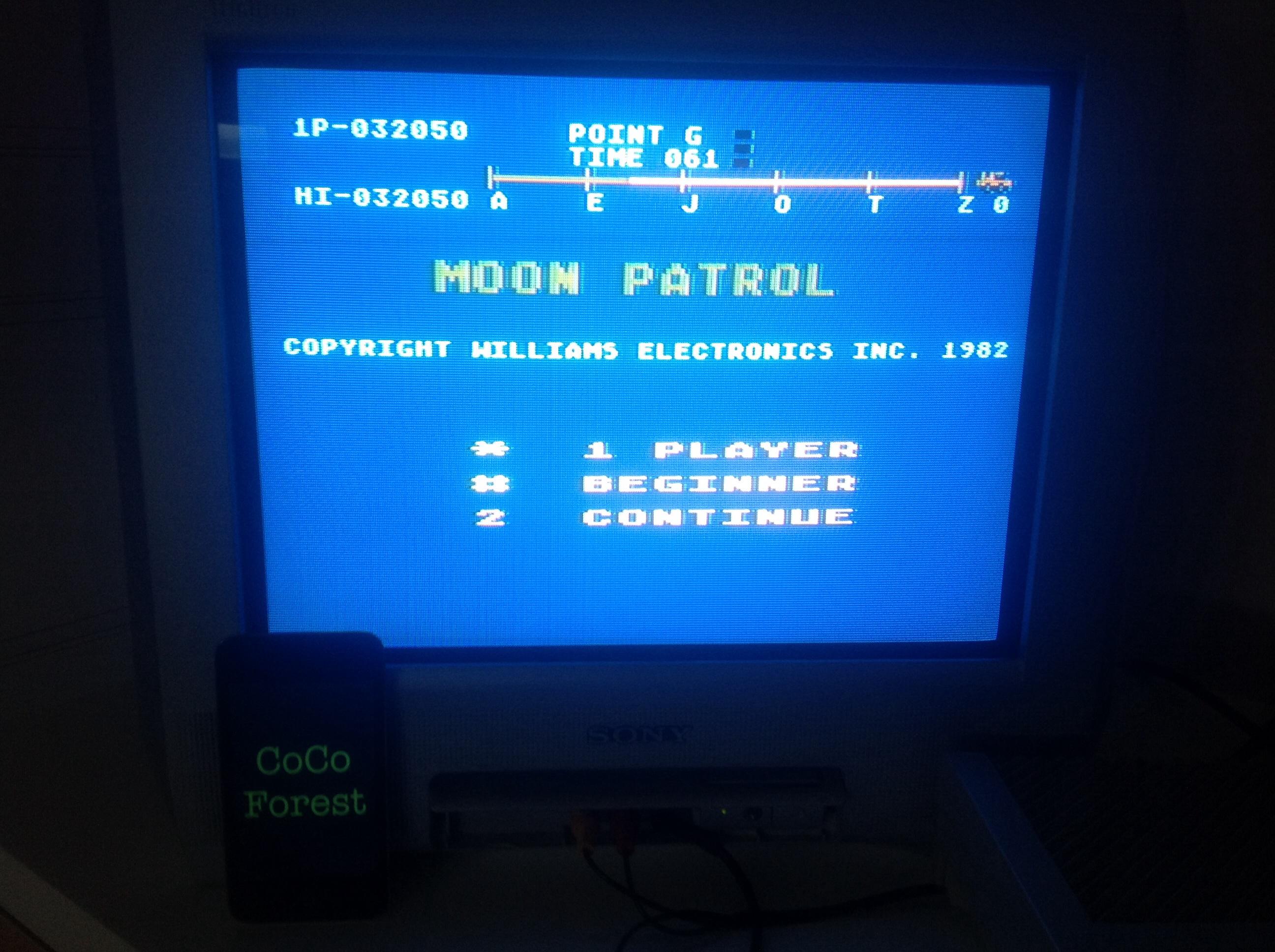 Moon Patrol: Beginner 32,050 points