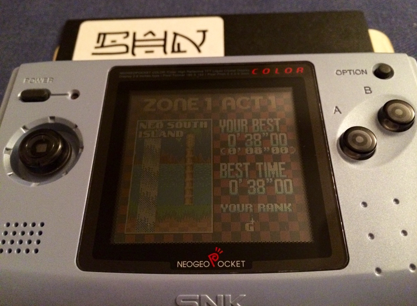SHiNjide: Sonic Pocket Adventures [Time Trail Zone 1-1] (Neo Geo Pocket Color) 0:00:38 points on 2014-07-10 04:41:29