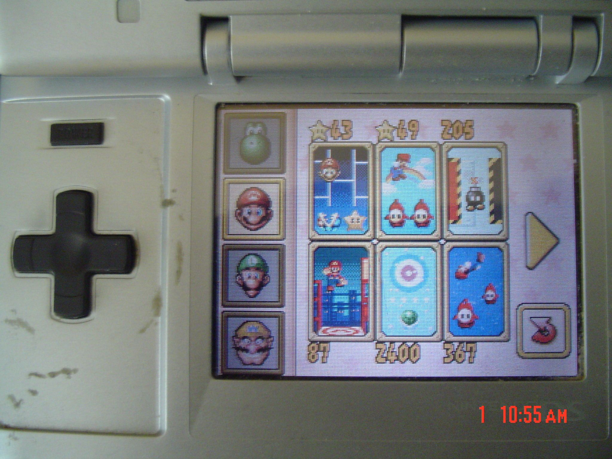 Super Mario 64 DS: Shuffle Shell 2,400 points