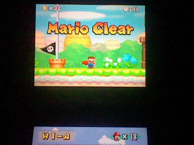 DarkEonMaster: New Super Mario Bros.: World 1-A [Remaining Time] (Nintendo DS) 218 points on 2014-07-10 19:34:07