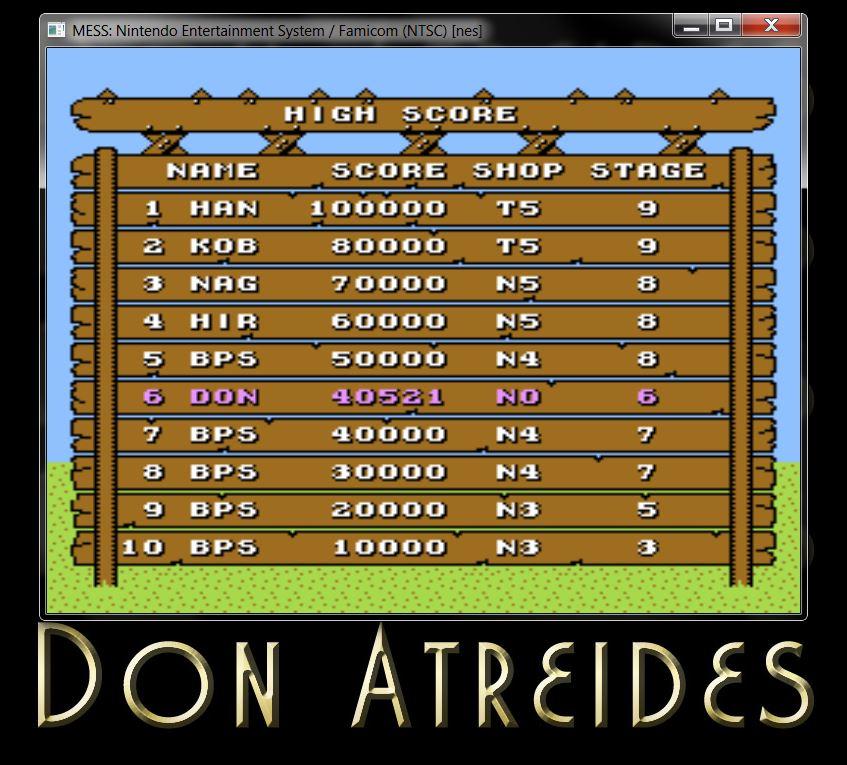 DonAtreides: Hatris [Stage 0 Start] (NES/Famicom Emulated) 40,521 points on 2014-07-10 22:59:32