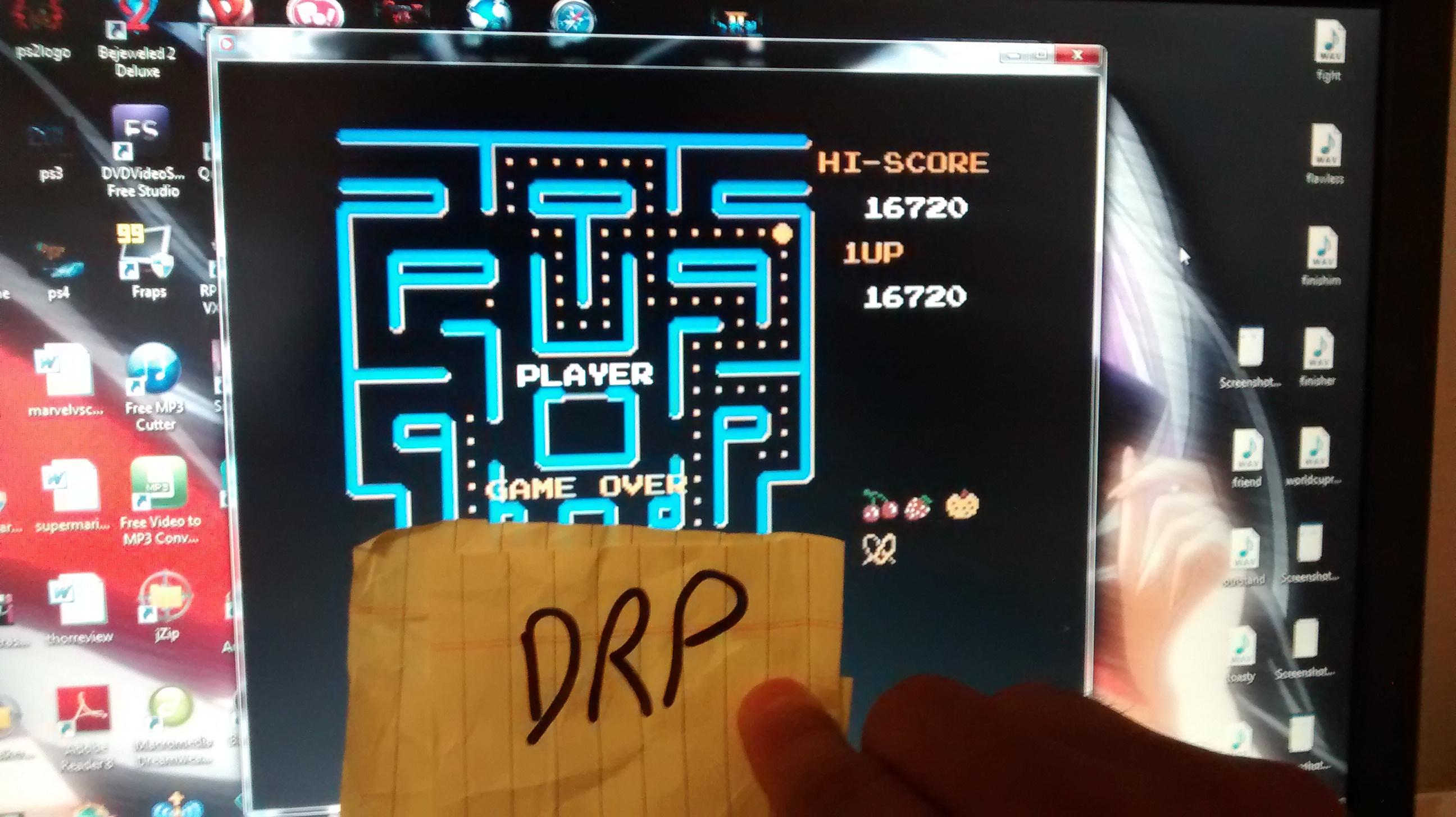 Ms. Pac-Man [Namco] 16,720 points