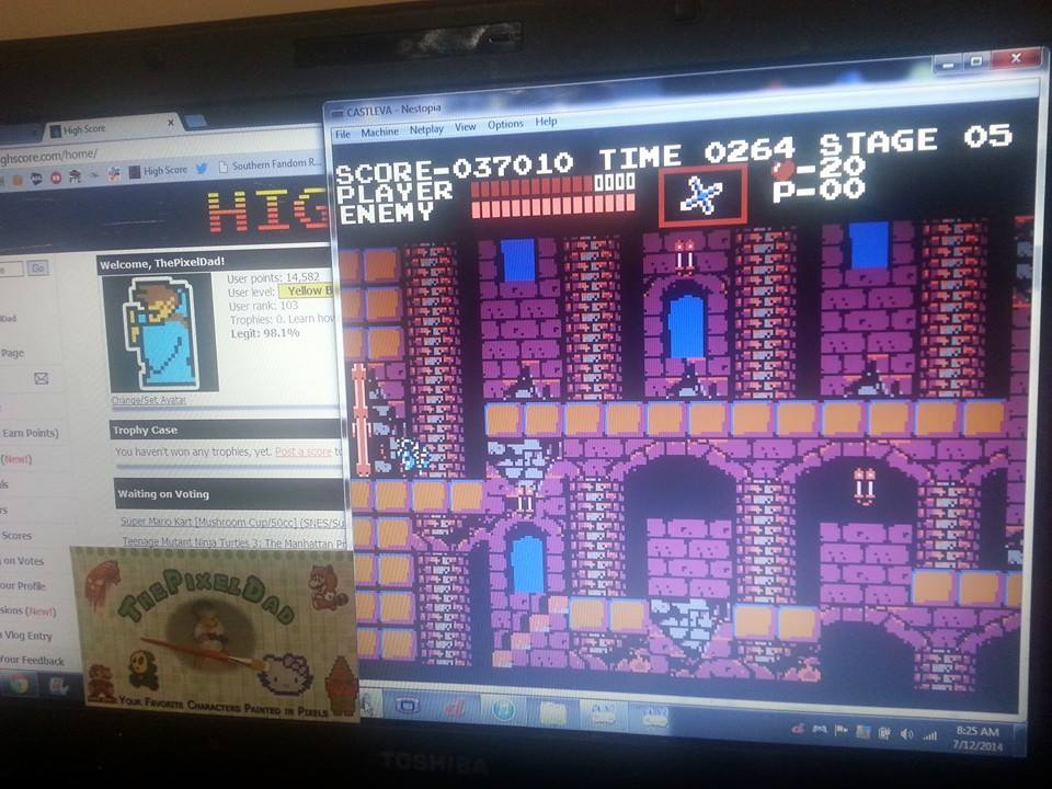 ThePixelDad: Castlevania (NES/Famicom Emulated) 37,010 points on 2014-07-12 08:50:53