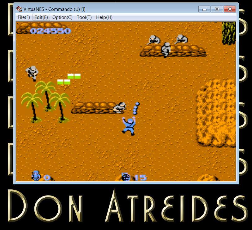 DonAtreides: Commando (NES/Famicom Emulated) 24,550 points on 2014-07-12 16:32:00