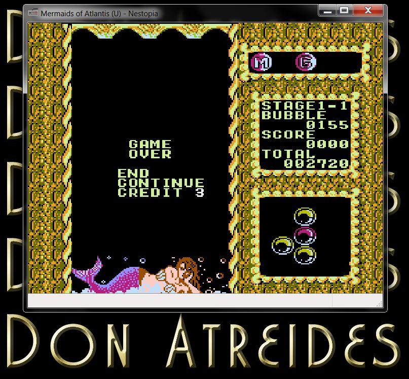 DonAtreides: Mermaids of Atlantis [Easy/Stage 1/Level 1] (NES/Famicom Emulated) 2,720 points on 2014-07-12 17:38:14