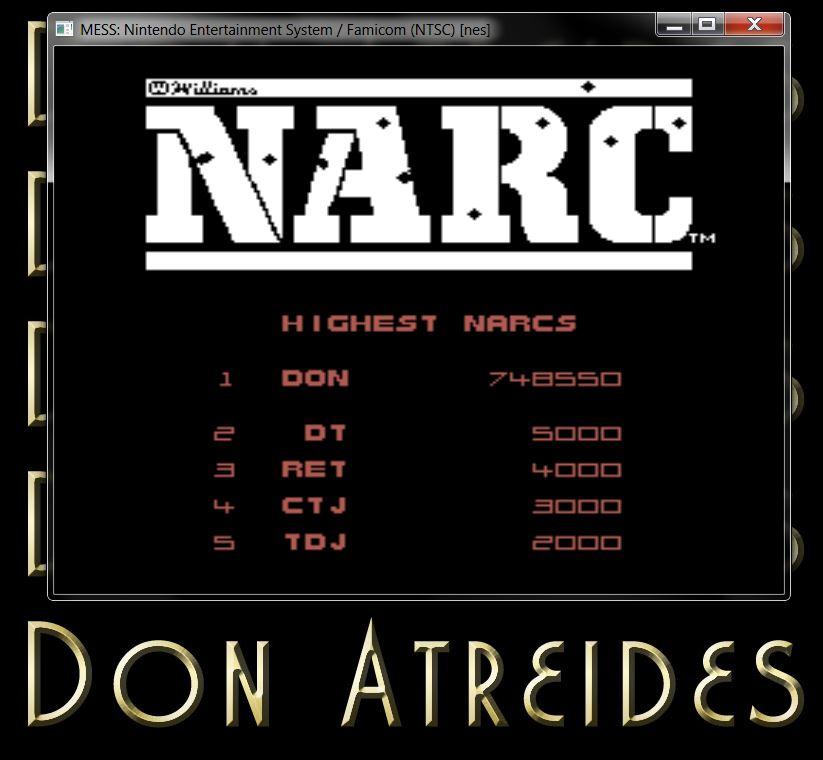DonAtreides: NARC (NES/Famicom Emulated) 748,550 points on 2014-07-12 18:12:49