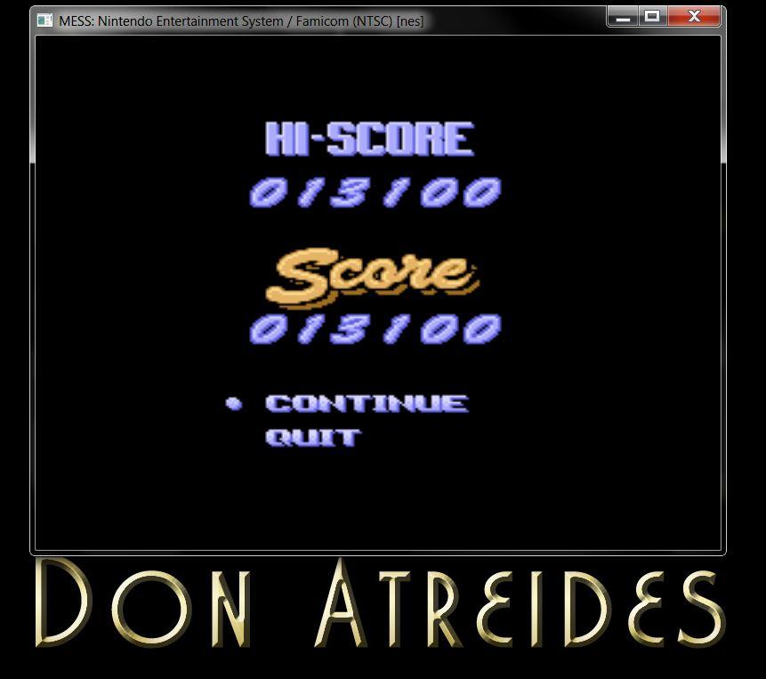 DonAtreides: The Ultimate Stuntman (NES/Famicom Emulated) 13,100 points on 2014-07-12 19:35:04