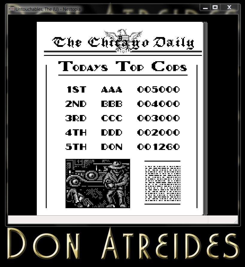 DonAtreides: The Untouchables [NES] (NES/Famicom Emulated) 1,260 points on 2014-07-12 19:47:40