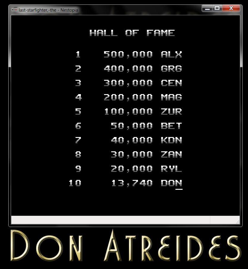 DonAtreides: The Last Starfighter (NES/Famicom Emulated) 13,740 points on 2014-07-12 20:55:47