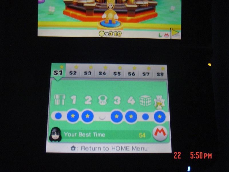 Super Mario 3D Land: Special 1-Castle [Best Time] 54 points