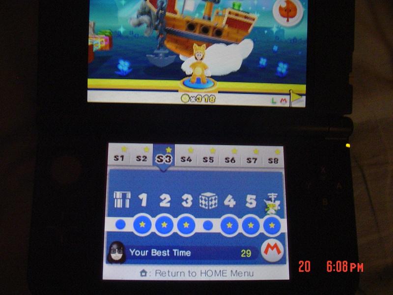 Super Mario 3D Land: Special 3-Ship [Best Time] 29 points