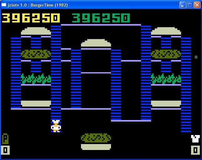 gavv: BurgerTime (Intellivision Emulated) 396,250 points on 2014-07-14 09:28:56