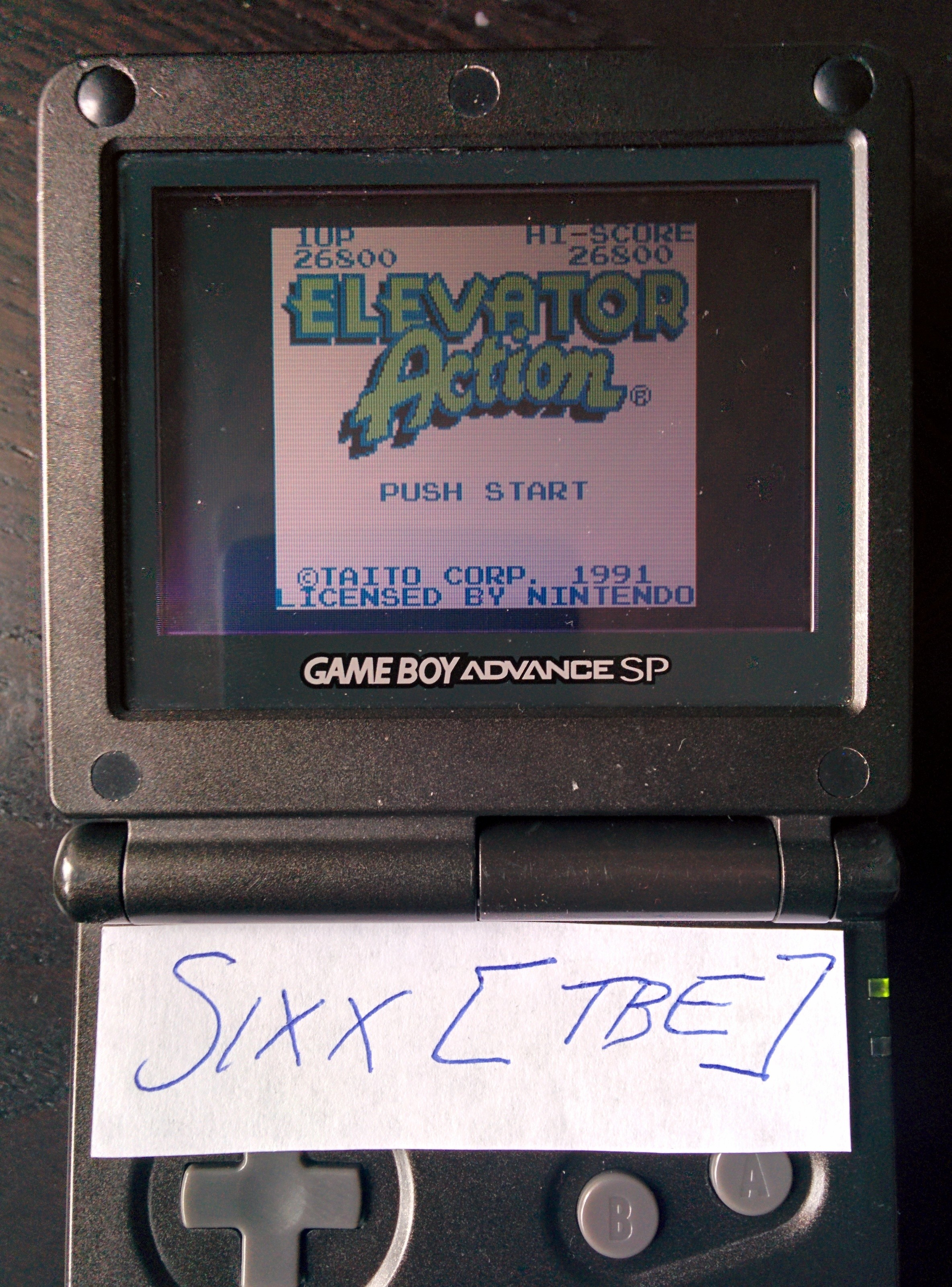 Sixx: Elevator Action (Game Boy) 26,800 points on 2014-07-14 11:00:26