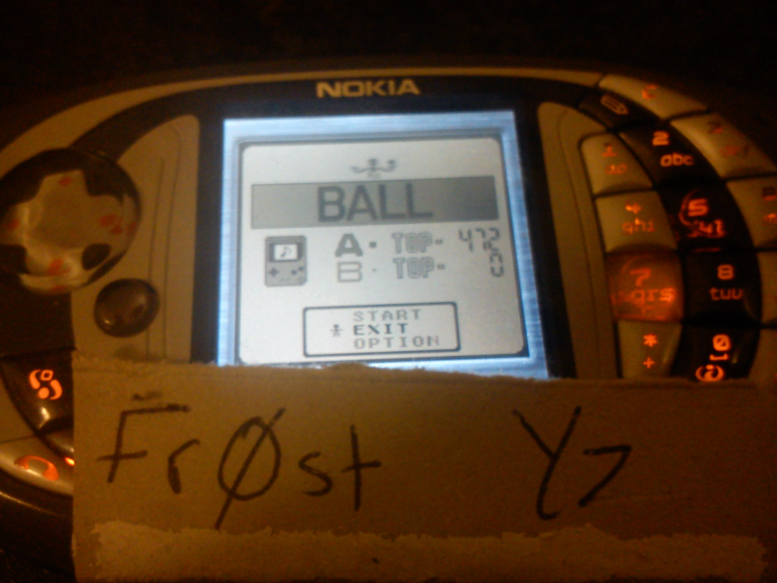Fr0st: Gameboy Gallery: Ball [Game A] (Game Boy Emulated) 472 points on 2014-07-14 11:19:33