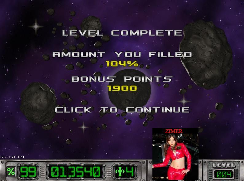 Zimer: Cosmic Bugs: Level 004 [Percentage] (PC) 104 points on 2014-07-14 20:19:06