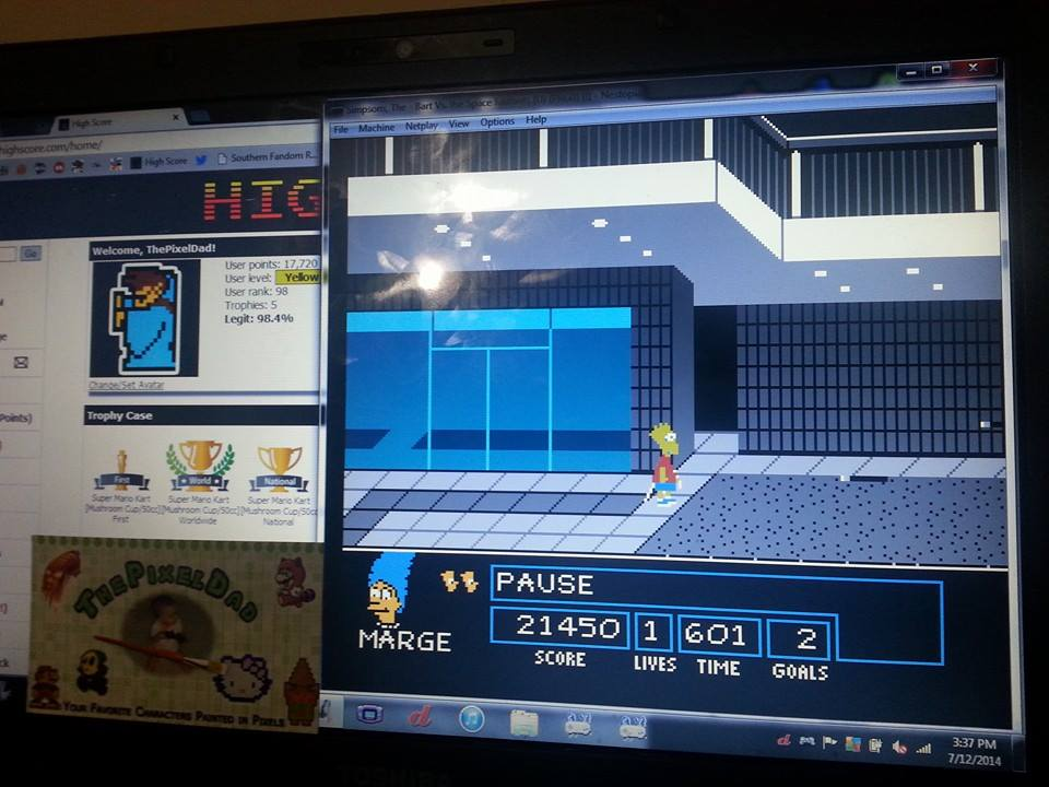 ThePixelDad: The Simpsons: Bart vs. the Space Mutants (NES/Famicom Emulated) 21,450 points on 2014-07-14 23:36:28