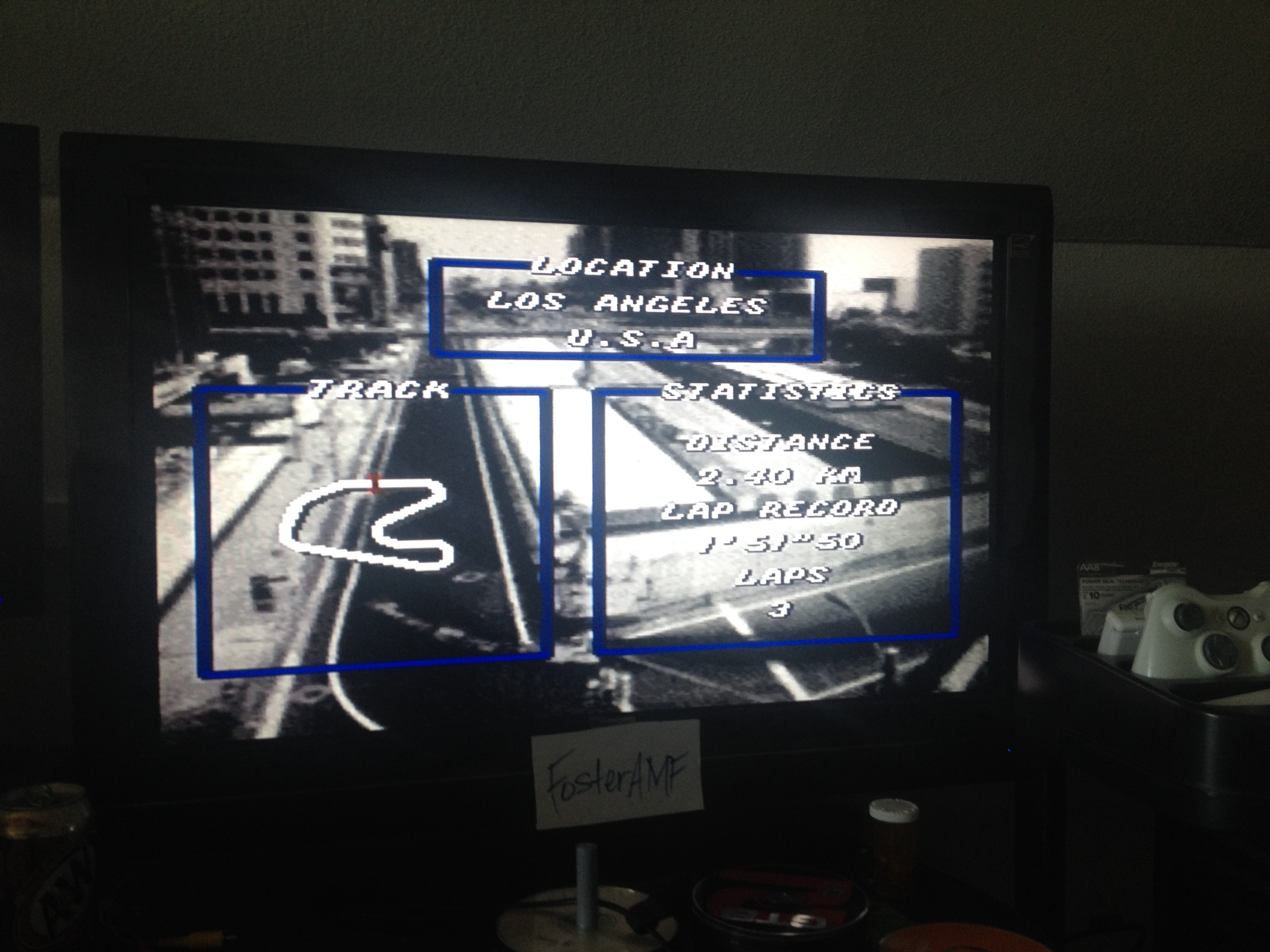 FosterAMF: Top Gear [Track 2: Los Angeles/Amateur Difficulty/No Nitro] (SNES/Super Famicom) 0:01:57.65 points on 2014-07-15 00:28:26