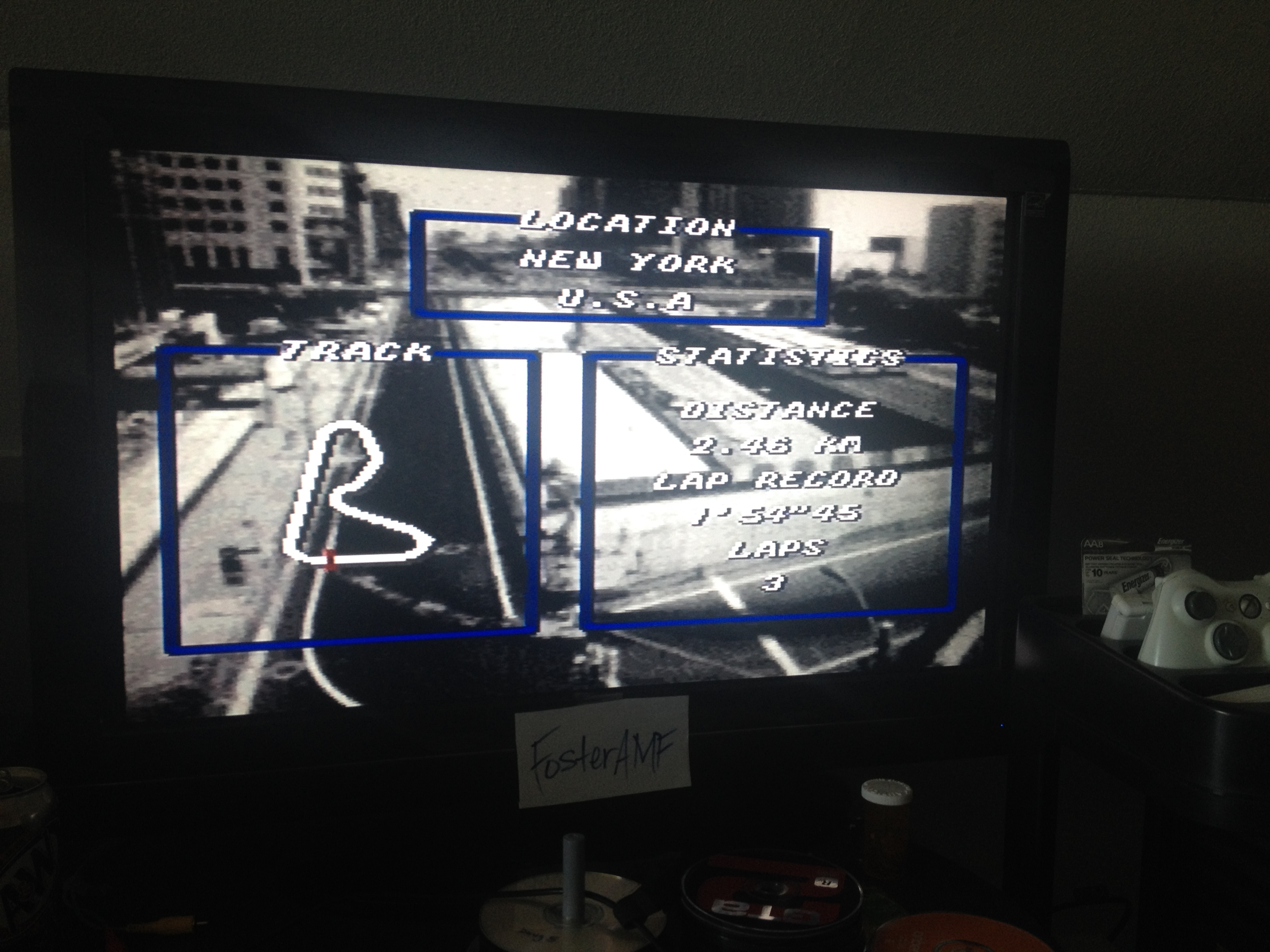 FosterAMF: Top Gear [Track 3: New York/Amateur Difficulty/No Nitro] (SNES/Super Famicom) 0:02:02.28 points on 2014-07-15 00:33:00