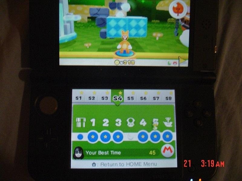 Super Mario 3D Land: Special 4-5 [Best Time] 45 points