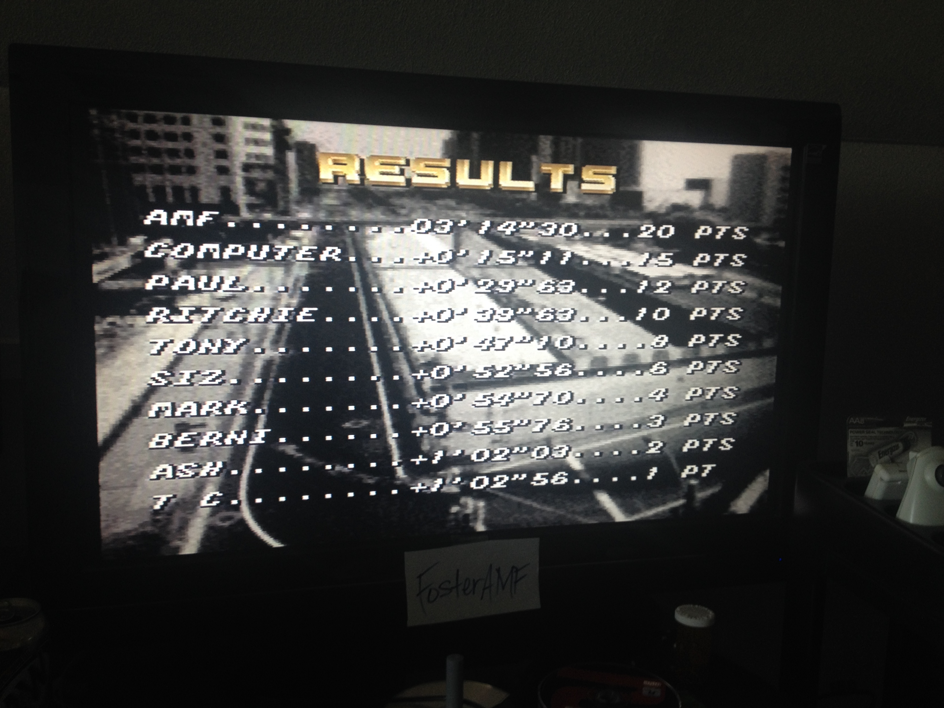 FosterAMF: Top Gear [Track 4: San Francisco/Amateur Difficulty/No Nitro] (SNES/Super Famicom) 0:03:14.3 points on 2014-07-15 12:16:47