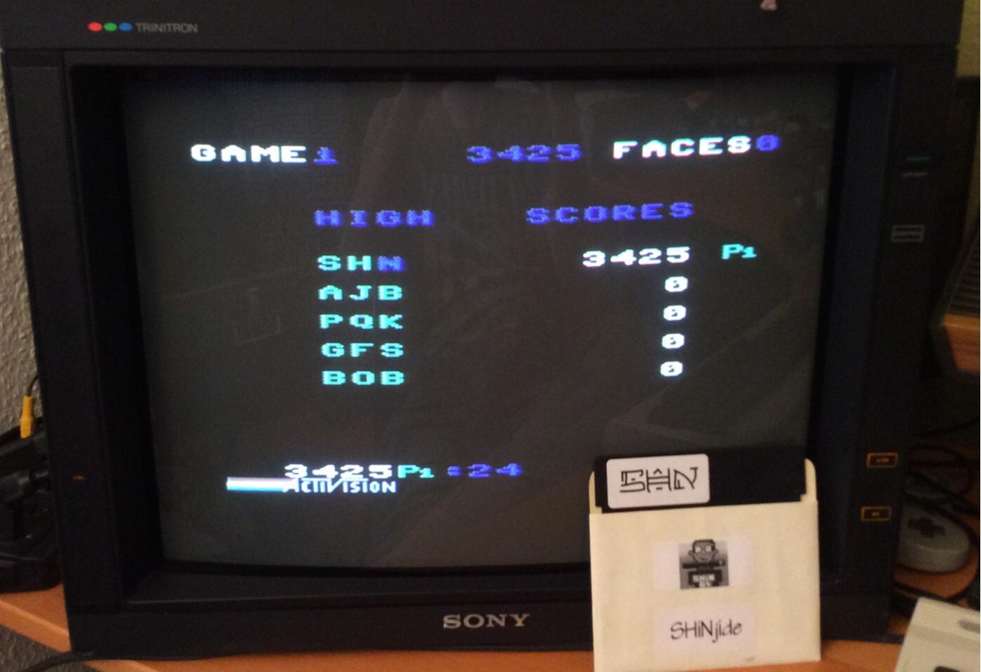 SHiNjide: Zenji: Game 1 (Commodore 64) 3,425 points on 2014-07-16 00:31:24