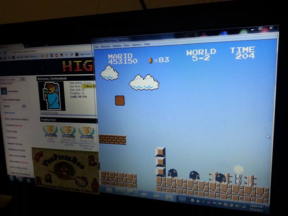 Super Mario Bros.: One Life Only 453,150 points