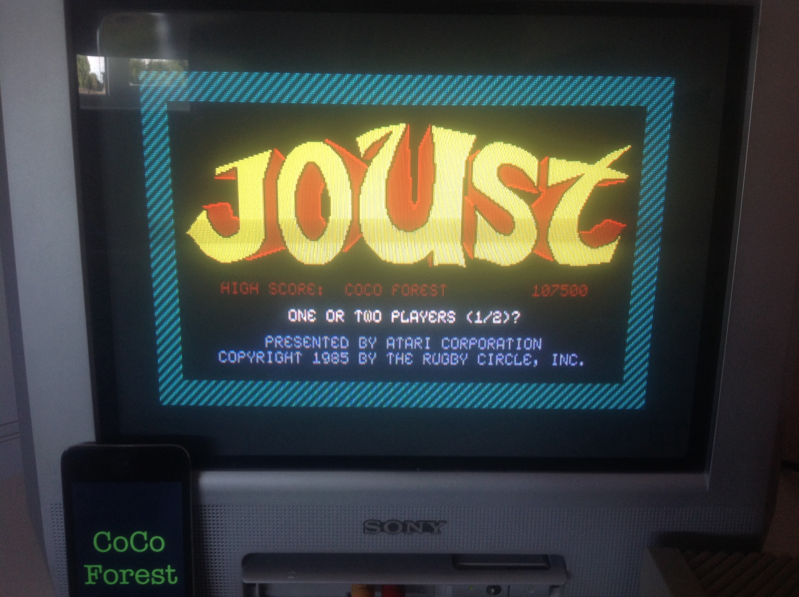 CoCoForest: Joust (Atari ST) 107,500 points on 2014-07-16 02:09:49