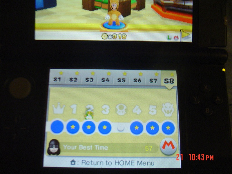 Super Mario 3D Land: Special 8-2 [Best Time] 57 points